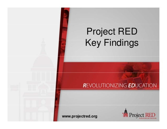 Project RED K Fi diKey Findings www.projectred.org