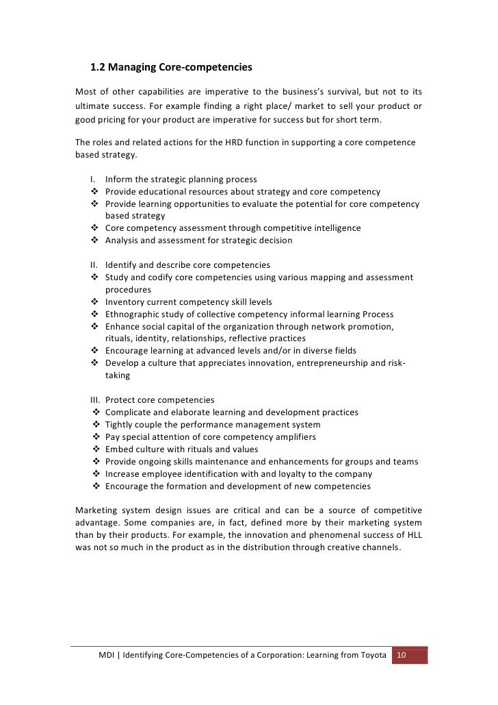 competence and commitment report essay 4 section 1: overview of competencies what are competencies after conducting an extensive literature review, we found the definitions for competency and.