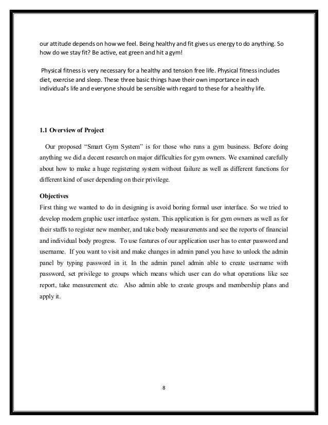 Smart Gym System documentation