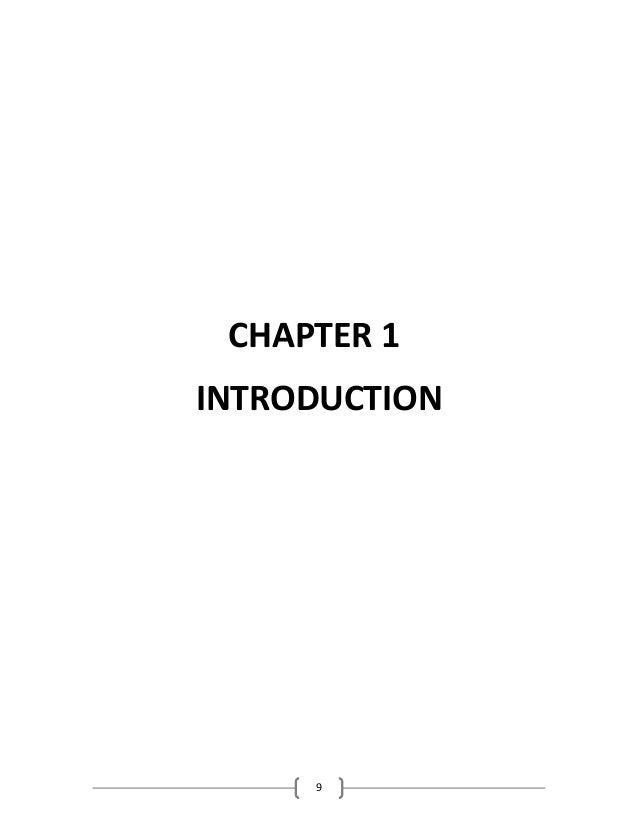 9 CHAPTER 1 INTRODUCTION