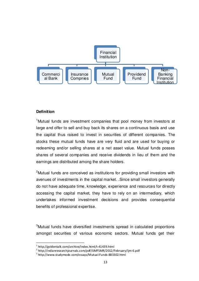an evaluation of the performance of three different mutual funds essay (1966) outlined methodologies to examine mutual fund performance within the context of three closely related areas: portfolio, selection, the capital asset pricing model (capm), and the general behavior of stock market prices.
