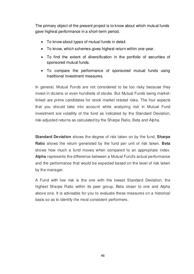 performance of mutual funds pdf