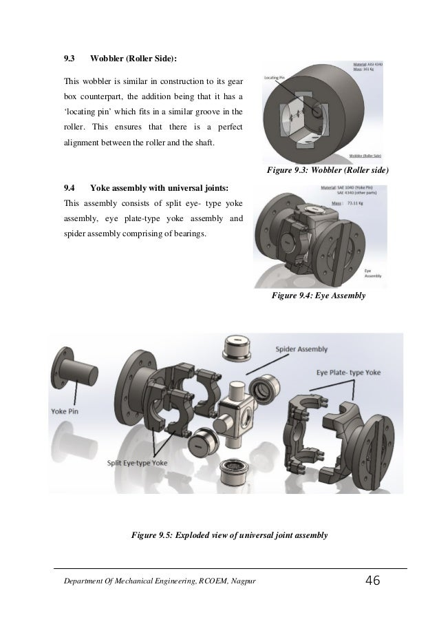 DESIGN ANALYSIS OF UNIVERSAL JOINT SHAFT FOR ROLLING MILLS