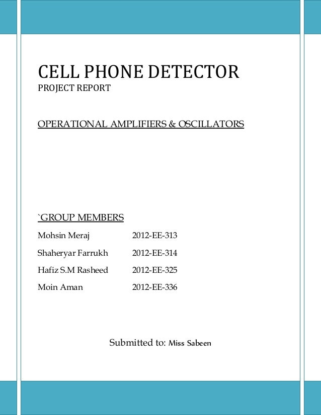 Cell phone detector circuit diagram ppt efcaviation pdf free more information ccuart Images