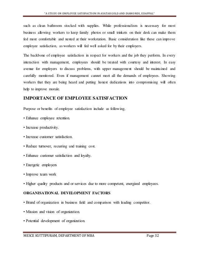 PROJECT REPORT ON EMPLOYEE SATISFACTION (sample) on guest satisfaction, customer satisfaction, improving business, improving cash flow, improving customer service, improving education,