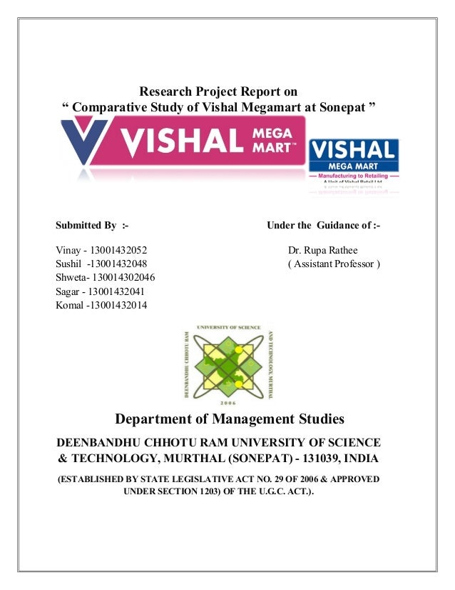 swot analysis of vishal mega mart A research project report on comparative study of vishal  comparative study of vishal megamart at  analysis of big bazaar and vishal mega mart.