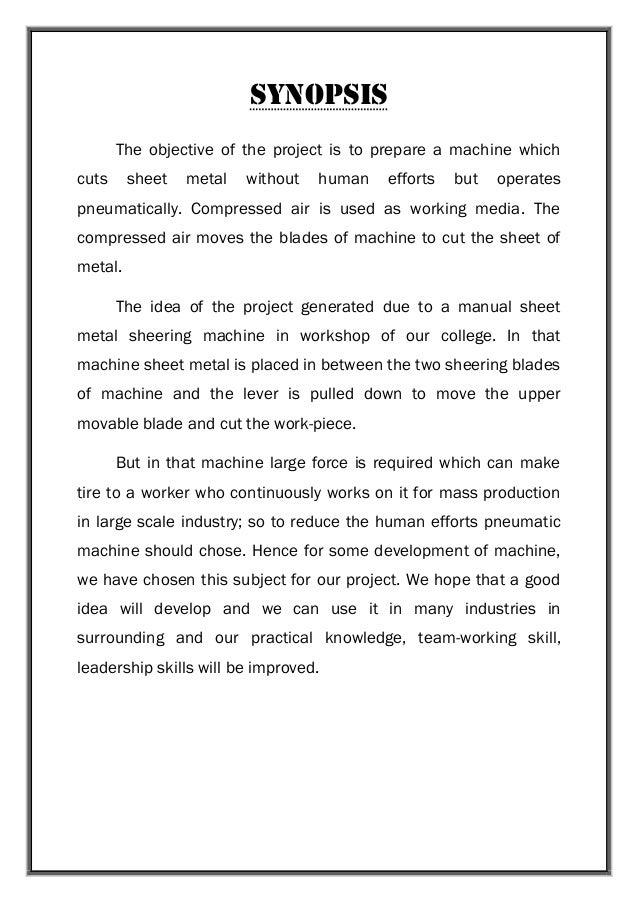 Automation of pneumatic sheet metal bending machine mechanical project