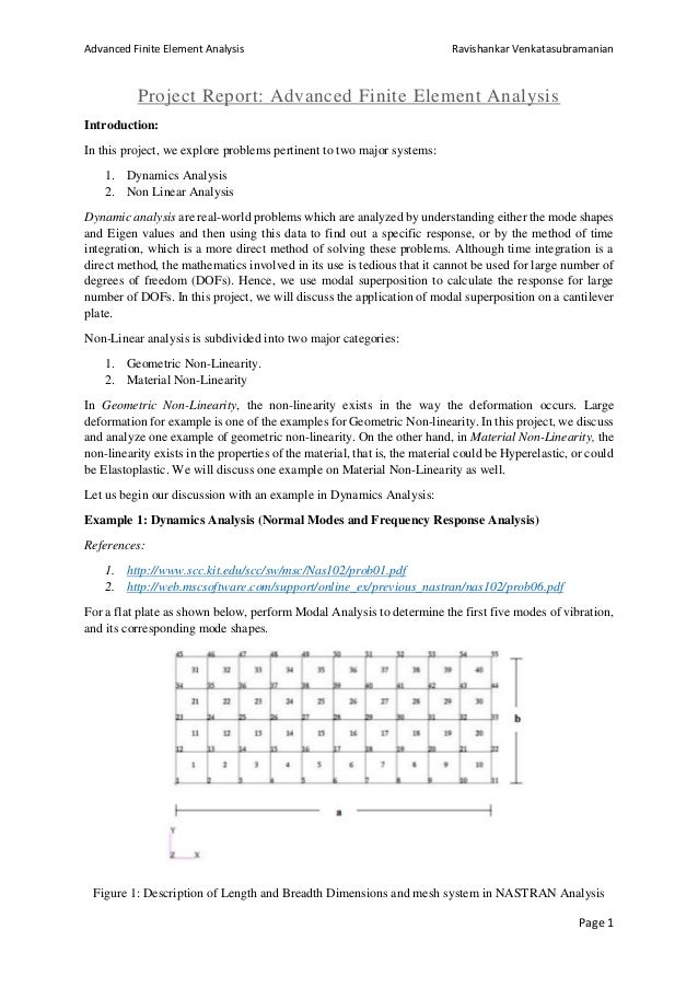 Linear Dynamics and Non-Linear Finite Element Analysis using ANSYS Wo…