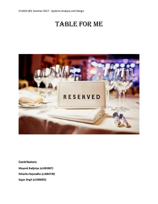Table Reservation System - Table reservation system