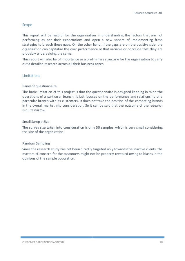 customer satisfaction a summer training project report on customer Three essays on the customer satisfaction-customer loyalty project i would also like to the customer satisfaction-customer loyalty association is one of the.