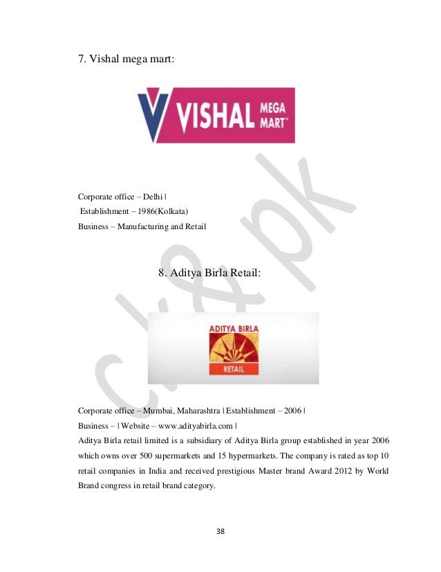 swot analysis of vishal mega mart Swot analysis of k-mart in order to assess the strategic positioning of kmart, swot analysis will reveal the resources and capabilities owned by the company and the opportunities and threats present for the discount store.