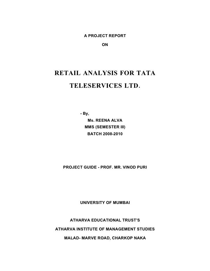 an analysis of tata teleservices Tata teleservices was set up in 1996 and is under the tata group, which is a group worth around us$ 22 billion and has more than 96 companies the company tata.