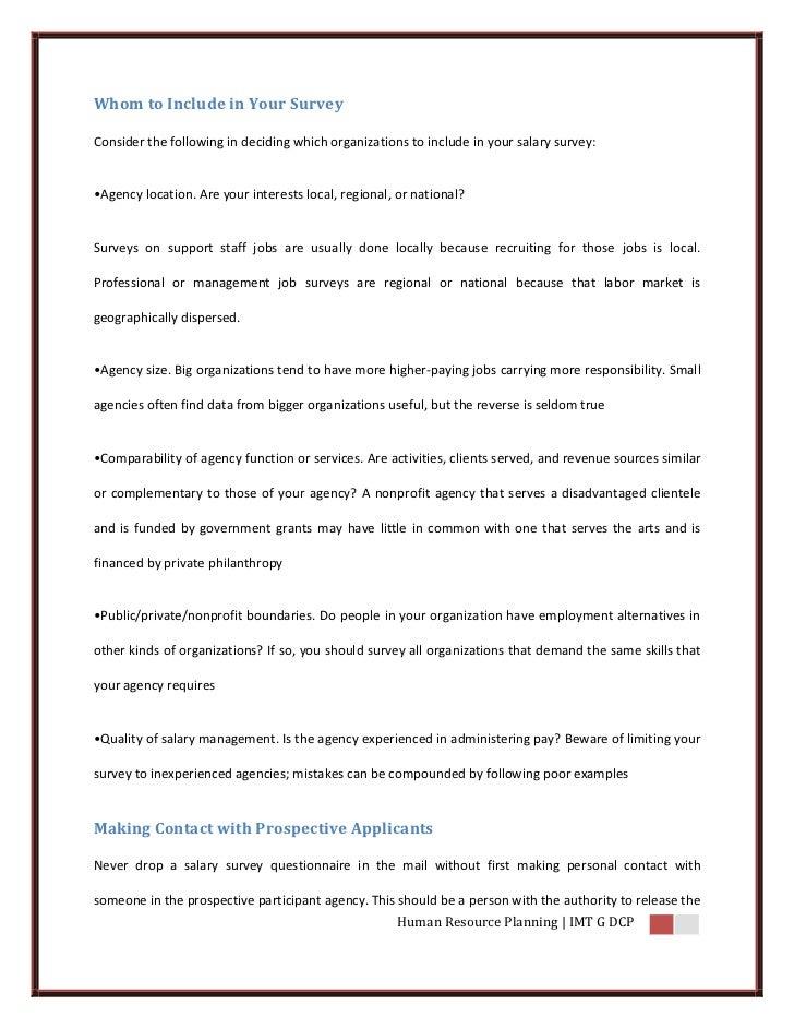 Compensation Survey – Salary Survey Questionnaire
