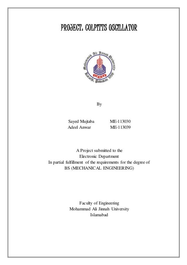 engineering electronics project report