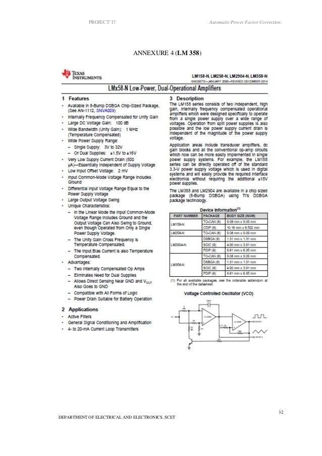 automatic power factor correction report