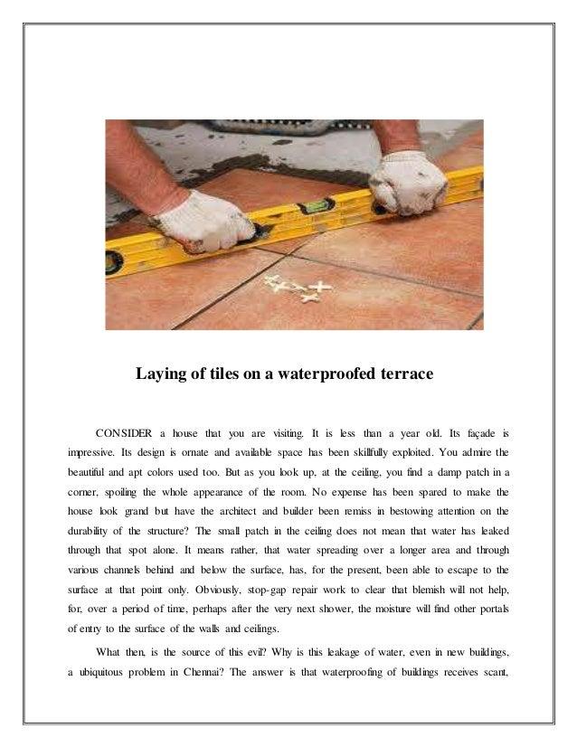 Water leakege remedies and precautions in rcc structure for Terrace waterproofing methods
