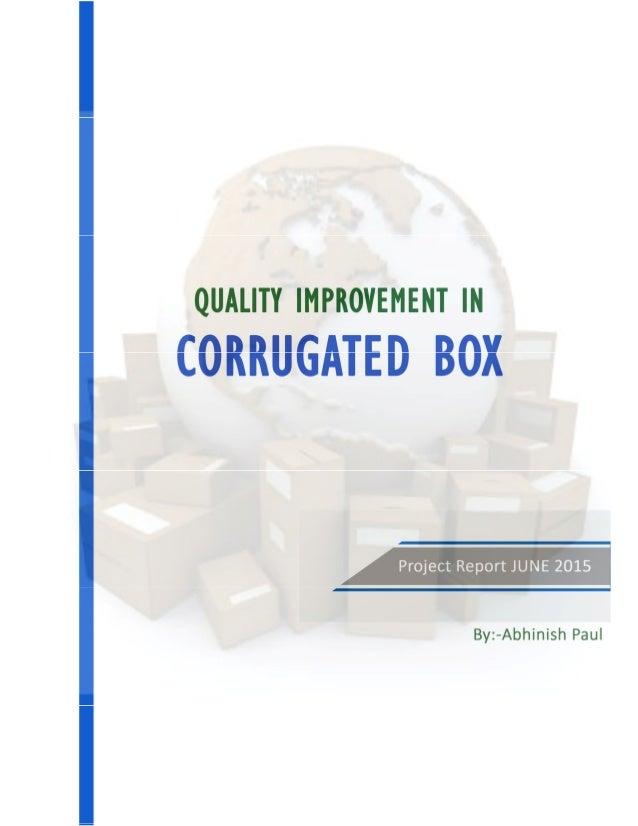 Corrugated box study
