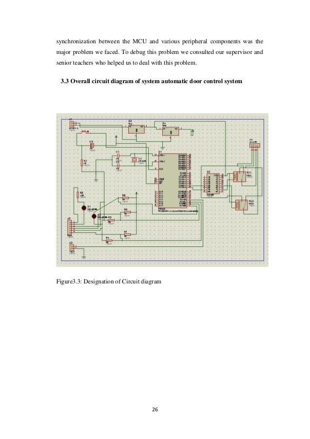 minor project report automatic door control systemvoltage regulation and; 38