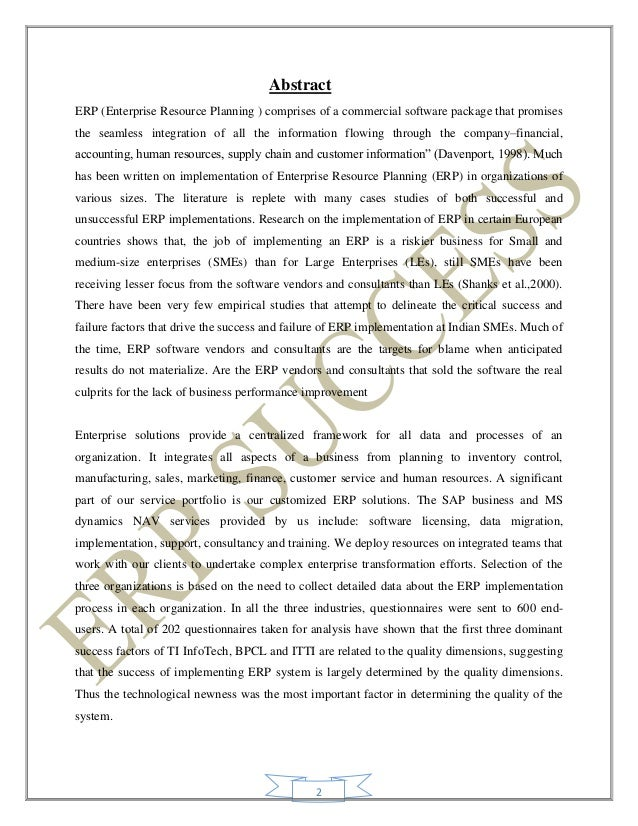 bpcl erp implementation Thesis on implementation of 11 6-1 cost benefit analysis of erp implementation at bpcl 2 1-2 an integrated view of enterprise resource planning system 5.