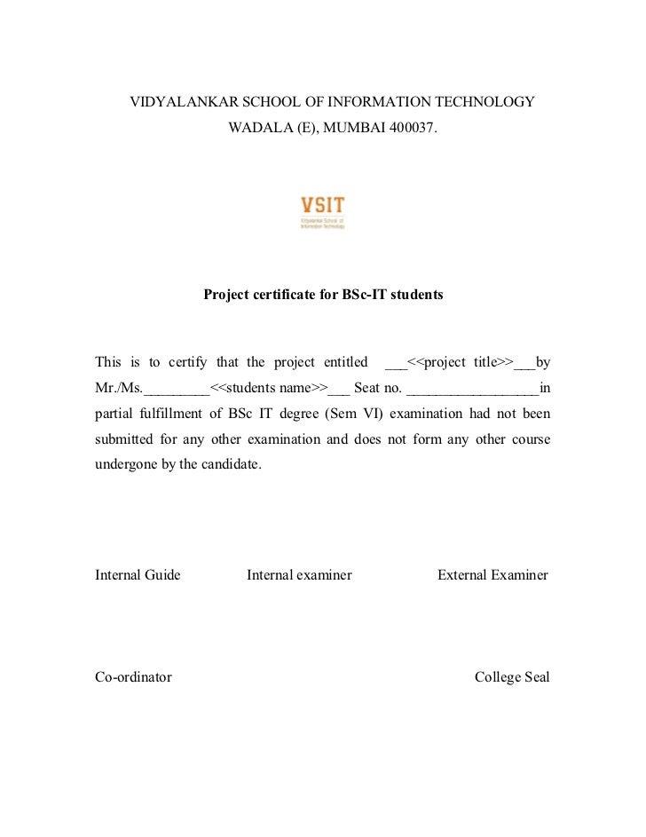 school project certificate format Happywinnerco