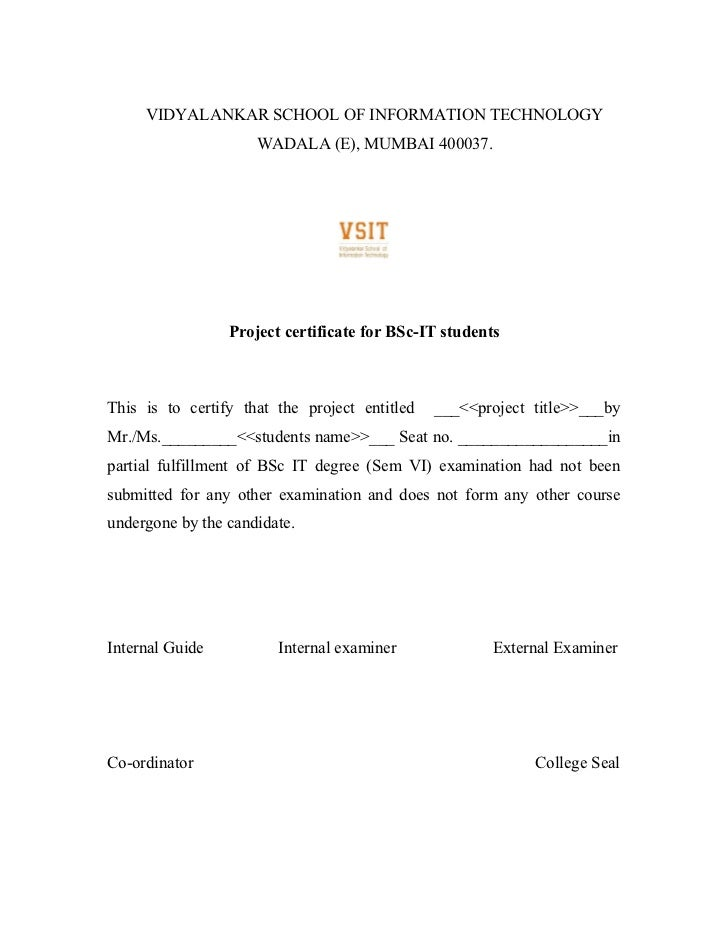Project report format acknowledgement 4 yadclub Choice Image