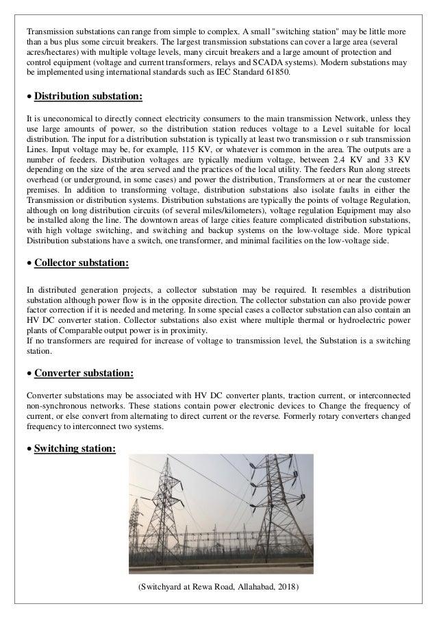 220KV Substation Training Report