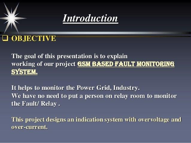 GSM Based Fault Monitoring System (Project) Slide 2
