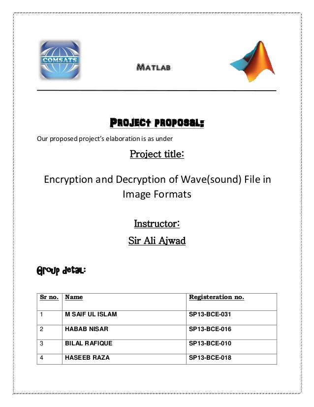Encryption & Decryption of Sound in image format on Matlab