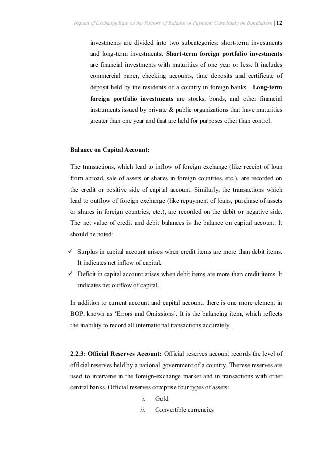 effect of exchange rate on balance of payment How balance of payments affects for balance of payments (rbi), exchange rates of payments and the effect of balance of payments on the gdp and its.