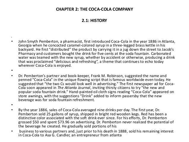 Project report of coca cola summer internship