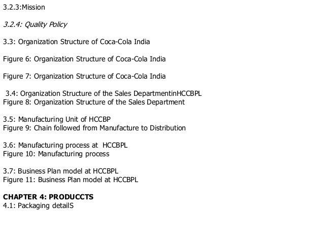 Project report of coca cola summer internship