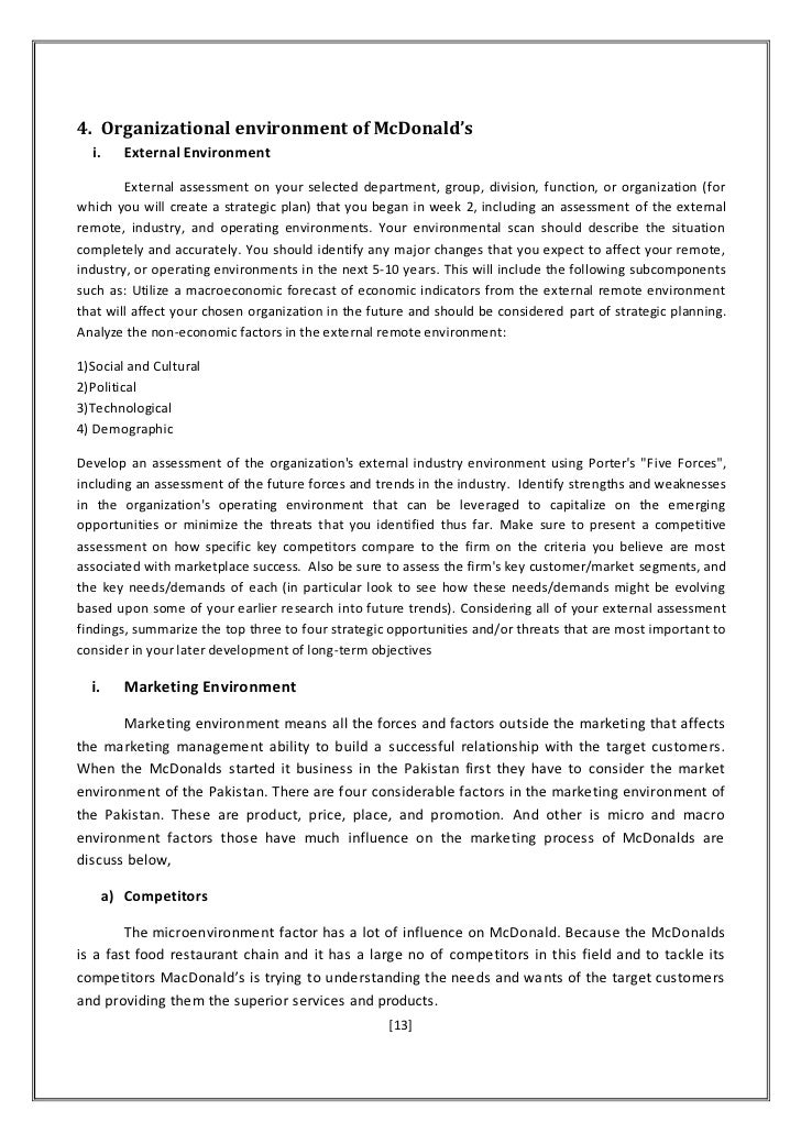 mcdonalds external environmental factors affecting them External environment factors pestel analysis business essay external environment factors pestel analyses external was influences affecting pestel was.