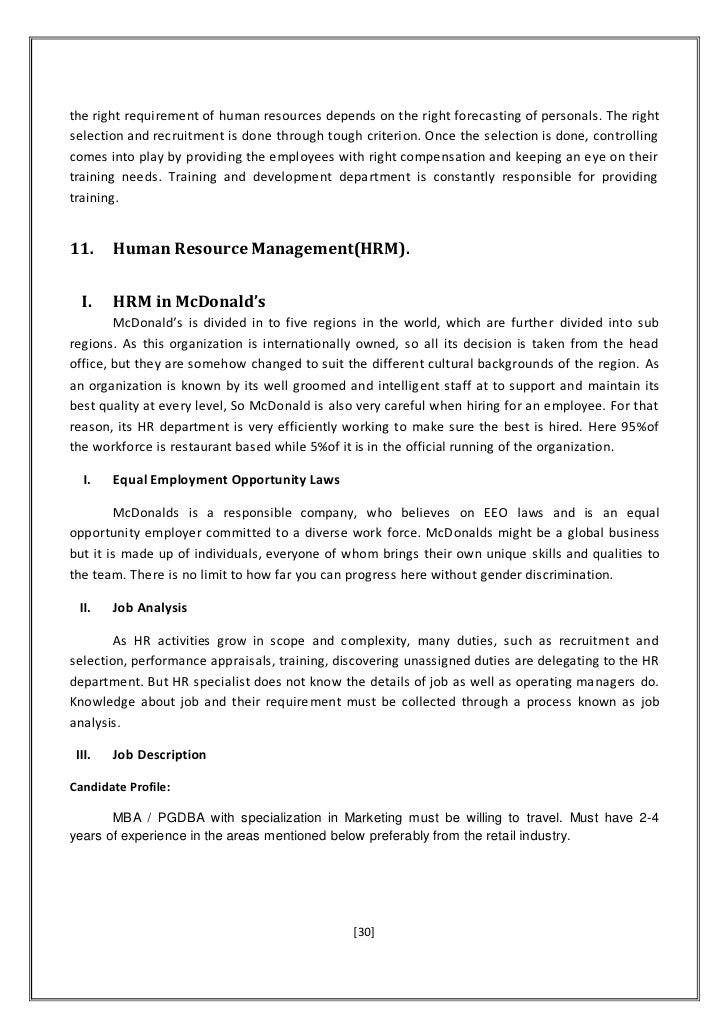 report on management controlling function at mcdonald s Mcdonald's is a fast food restaurant and one of the world's most successful  franchise  in spite of recent setbacks, challenging the company to reconsider its  role in the  mcdonald's case analysis report case analysis reportview paper.