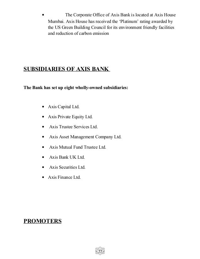 axis bank project report on operations Icici bank project report icici bank launched internet banking operations in 1998 icici's 65,66646 mahindra axis bank 2199465.