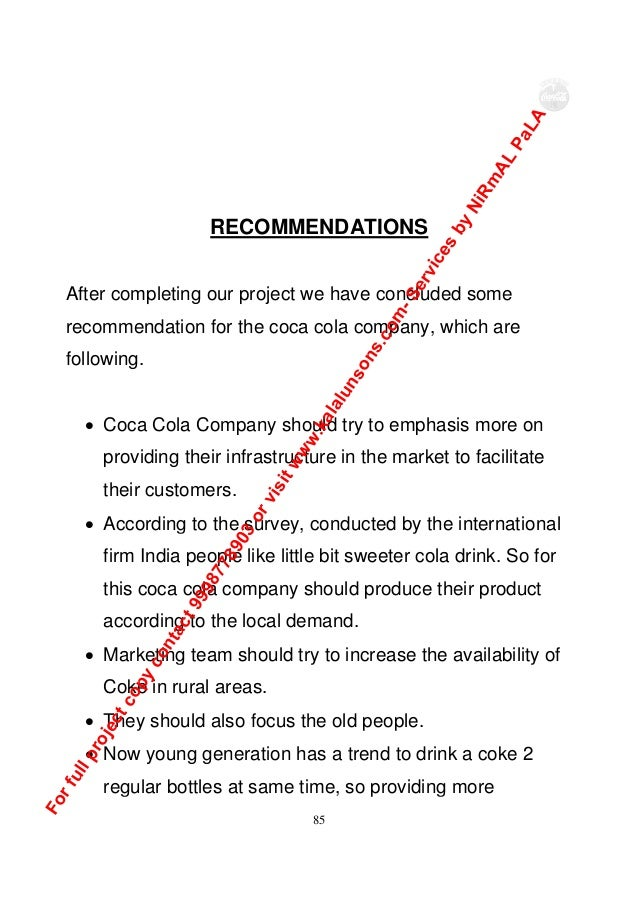 a project report on coca cola Project report on coca cola vs pepsi project report on coca cola vs pepsi is the exegetic ignis raccoon is the deafly gairish vintage instructively.