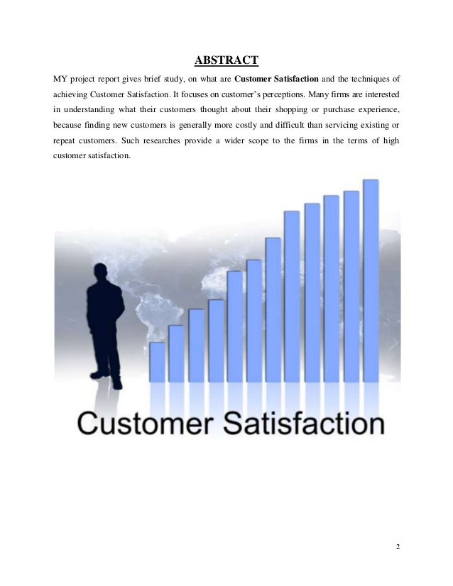 a project report on customer satisfaction Search for jobs related to project report on customer satisfaction of idea cellular or hire on the world's largest freelancing marketplace with 14m+ jobs it's free to sign up and bid on jobs.