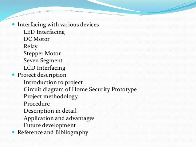 Microcontroller based home security system project report