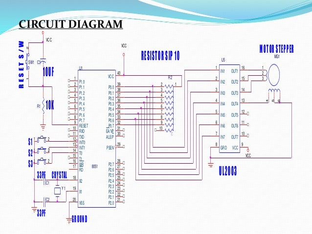 Project report on embedded system using 8051 microcontroller