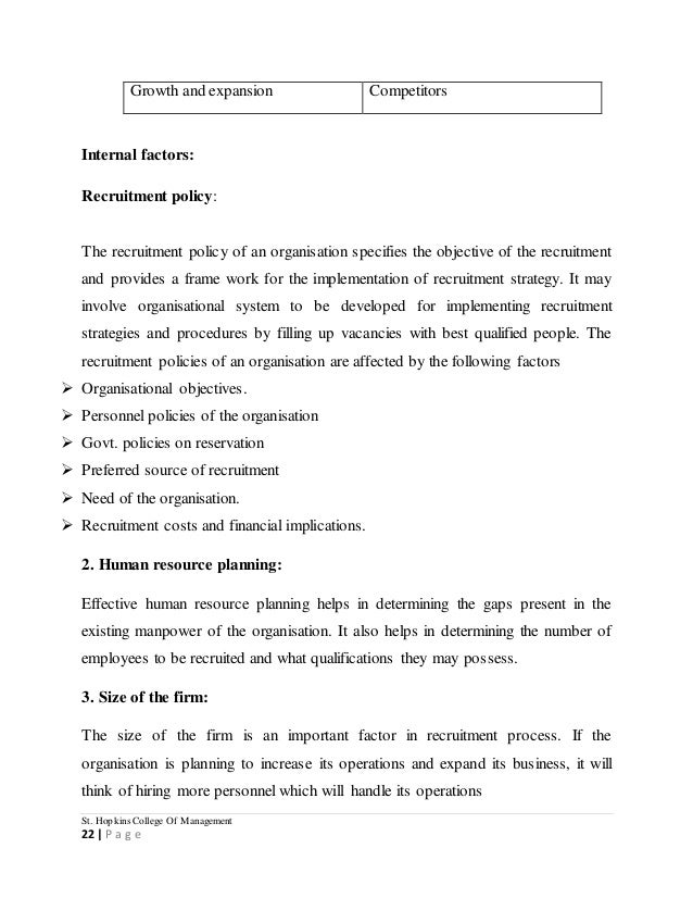 objectives and hypothesis for recruitment and selection process Recruitment is the process of attracting scenario called for an investigation into the effect of recruitment and selection on the the main hypothesis of this study was recruitment and training practices is a significant.