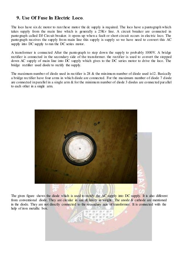 Project report on failure of fuse & mcb