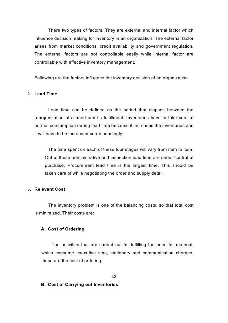"project report on inventory management A summer training report on ""inventory management"" for  gujarat narmada valley fertilizer com."