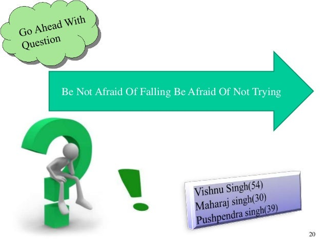Be Not Afraid Of Falling Be Afraid Of Not Trying 20