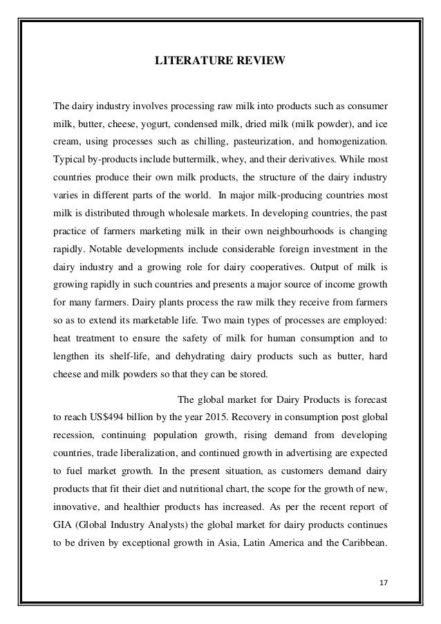 Internship Project Report On Mother Dairy