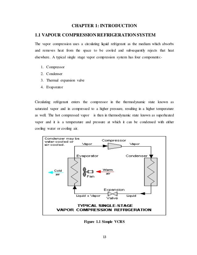 Project Report On Vcr System With Liquid Suction Heat Exchanger