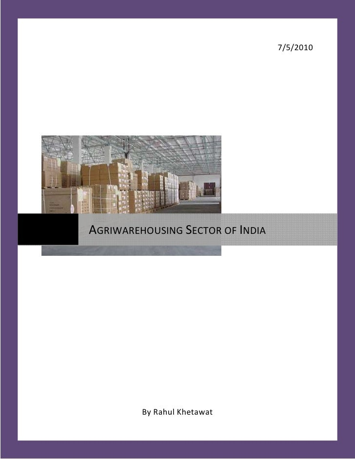 Project Report On Warehousing Sector (Repaired)