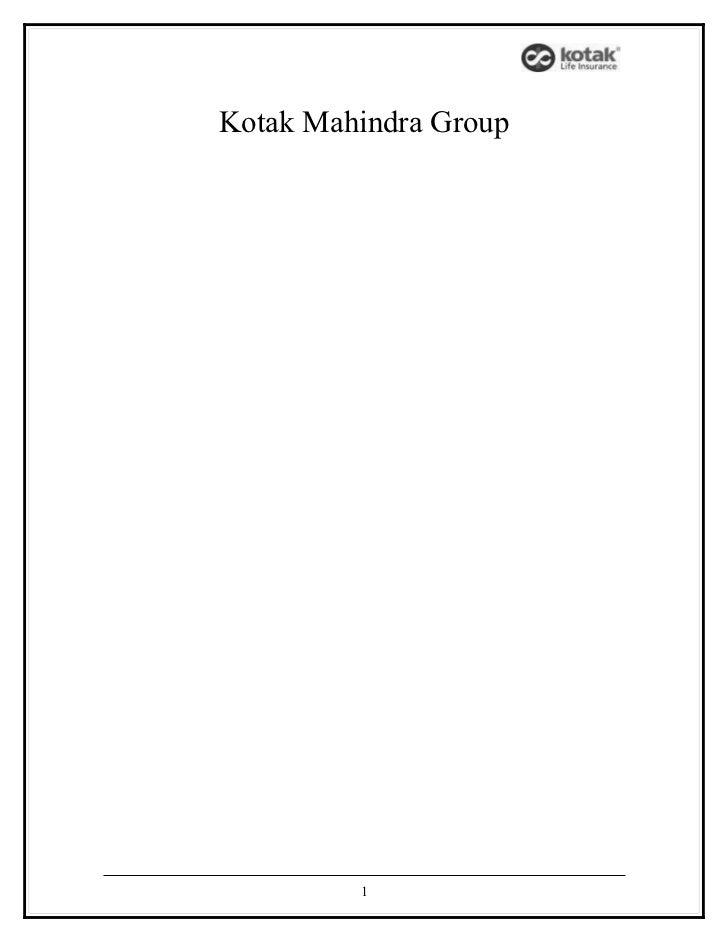 Kotak Mahindra Group         1