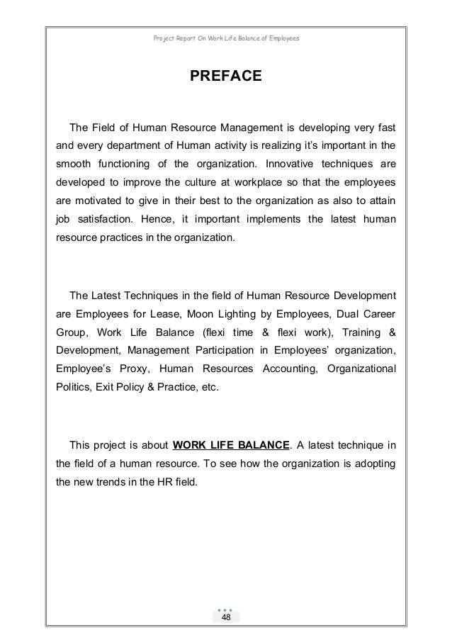 Dissertation report on work life balance buying an essay