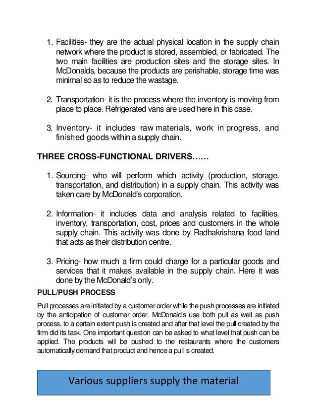 management report on mc donalds 4 strategies for mcdonald's management by  at the stillman school of business of seton hall university and the publisher of the lakeview restaurant & food chain report, .