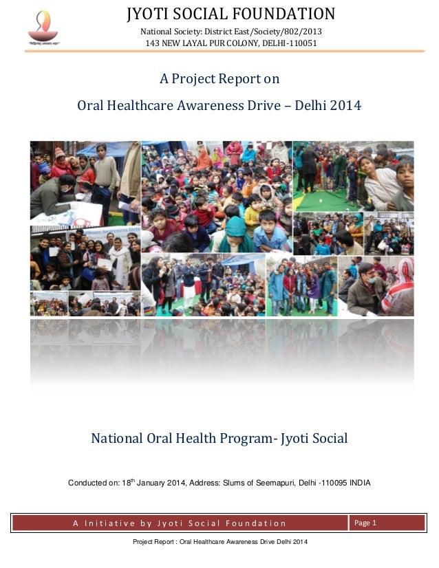 JYOTI SOCIAL FOUNDATION National Society: District East/Society/802/2013 143 NEW LAYAL PUR COLONY, DELHI-110051 A I n i t ...
