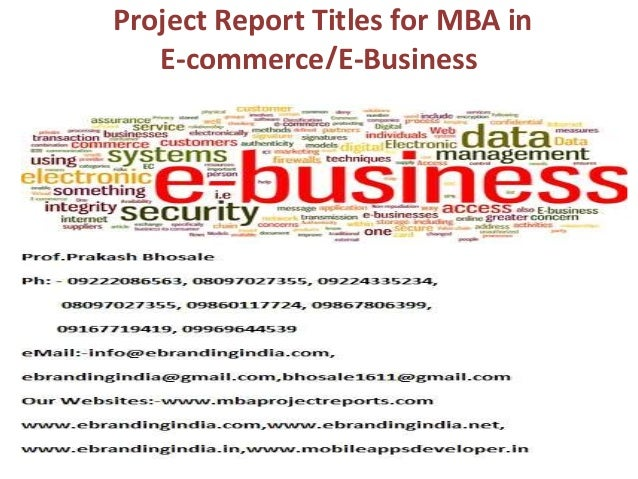 a project report on ecommerce Free mba project download for hr, marketing, system, etc download mba project report for mba finance mba project title : ecommerce international growth.